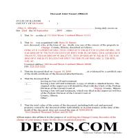 Scott County Completed Example of the Joint Tenant Affidavit Document Page 1