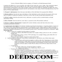 Carroll County Notice of Death Affidavit Guide Page 1