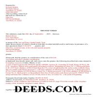 Cass County Completed Example of the Trustee Deed Document Page 1