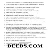 Henderson County Contractor Notice Guide Page 1