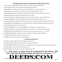 Adams County Preliminary 60 Day Notice Guide Page 1
