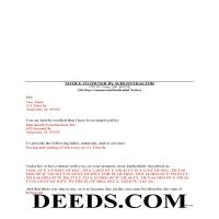 Henderson County Completed Example of the Preliminary 90 Day Notice Document Page 1