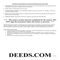 Lee County Unconditional Waiver and Release of Mechanic Lien Guide Page 1