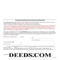 Edgar County Completed Example of the Unconditional Waiver and Release of Mechanics Lien Document Page 1