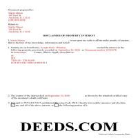 Scott County Completed Example of the Disclaimer of Interest Document Page 1