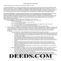 Hendricks County Quit Claim Deed Guide Page 1