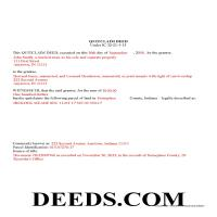 Randolph County Completed Example of the Quit Claim Deed Document Page 1