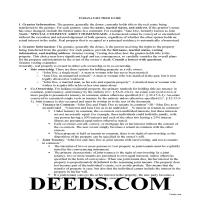 Morgan County Gift Deed Guide Page 1