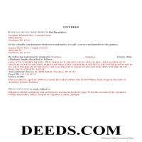 Delaware County Completed Example of the Gift Deed Document Page 1