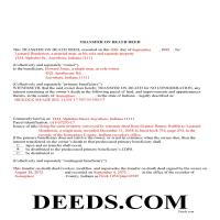 Dearborn County Completed Example of the Transfer on Death Deed Document Page 1
