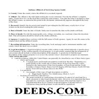 Floyd County Affidavit of Surviving Spouse Guide Page 1