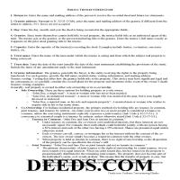 Franklin County Trustee Deed Guide Page 1