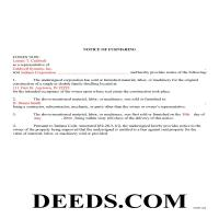 Clinton County Completed Example of the Notice of Furnishing Document Page 1