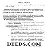 Louisa County Quit Claim Deed Guide Page 1