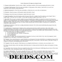Sioux County Trustee Warranty Deed Guide Page 1