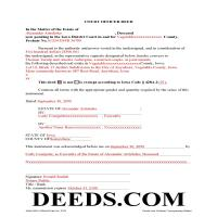 Des Moines County Completed Example of the Court Officer Deed Document Page 1