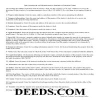 Cass County Affidavit of Individual Trustee Guide Page 1