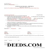 Jasper County Completed Example of the Affidavit of Individual Trustee Document Page 1