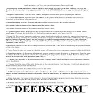 Howard County Affidavit of Corporate Trustee Guide Page 1