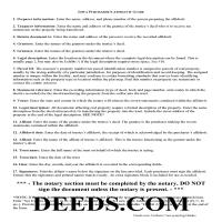 Warren County Purchaser Affidavit Guide Page 1
