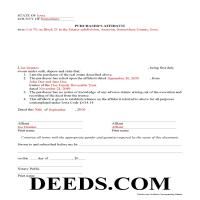Warren County Completed Example of the Purchaser Affidavit document Page 1