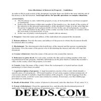 Des Moines County Disclaimer of Interest Guide Page 1