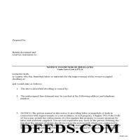 Jefferson County Subcontractor Notice to Owner Form Page 1