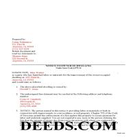 Iowa County Completed Example of the Subcontractor Notice to Owner Document Page 1