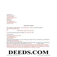 Haskell County Completed Example of the Trustee Deed Document Page 1