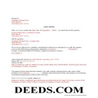 Marion County Completed Example of the Gift Deed Document Page 1
