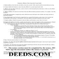 Allen County Affidavit of Surviving Joint Tenant Guide Page 1