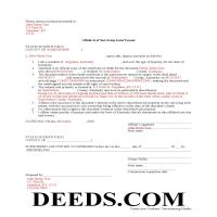 Allen County Completed Example of the Affidavit of Surviving Joint Tenant Document Page 1