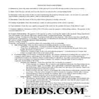 Calloway County Executor Deed Guide Page 1