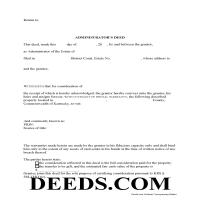 Morgan County Administrator Deed Form Page 1