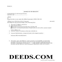 Madison County Affidavit of Descent Form Page 1