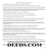 Pendleton County Affidavit of Descent Guide Page 1
