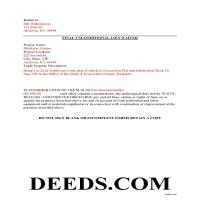 Montgomery County Completed Example of the Unconditional Lien Waiver Document Page 1