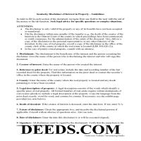 Butler County Disclaimer of Interest Guide Page 1