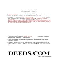 Leslie County Completed Example of the Disclaimer of Interest Document Page 1