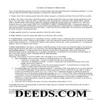 Vernon Parish Warranty Deed Guide Page 1
