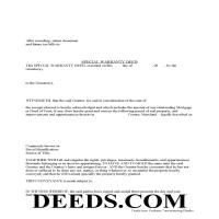 Charles County Special Warranty Deed Form Page 1