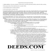 Charles County Special Warranty Deed Guide Page 1