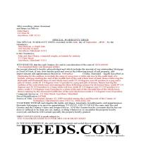 Charles County Completed Example of the Special Warranty Deed Document Page 1