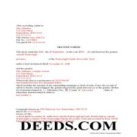 Frederick County Completed Example of the Trustee Deed Document Page 1