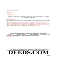 Anne Arundel County Completed Example of the Notice to Owner Document Page 1