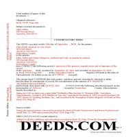 Barnstable County Completed Example of the Correction Deed Document Page 1