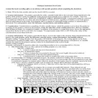 Kalkaska County Quit Claim Deed Guide Page 1