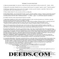 Menominee County Correction Deed Guide Page 1