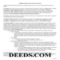 Menominee County Warranty Deed with Enhanced Life Estate Guide Page 1