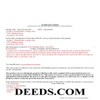 Benzie County Completed Example of the Warranty Deed with Enhanced Life Estate Document Page 1